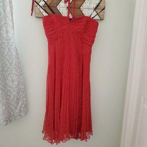 Laundry - Red, Silk, Flowy dress.